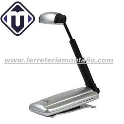 LINTERNA EXTENSIBLE 3 LED PLATA